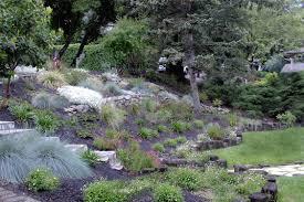 Backyard Slope Landscaping Ideas Hillside Landscape Ideas Delightful Outdoor Ideas