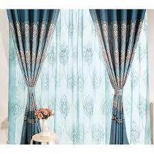 damask patterned grommet jacquard linen cotton blend vintage