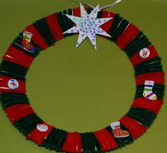 toilet roll christmas wreath and other crafts ofamily learning