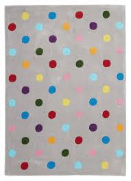 Polka Dot Kids Rug by Kids Dots Design Rug Grey U2013 Lifestylebrands Co