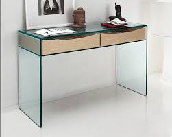 Modern Glass Desk With Drawers It Is Also Possible To The Top Of The Console Table In A