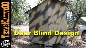 deer blind design for hunting with children youtube
