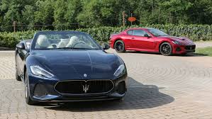 maserati gt maserati u0027s 2018 granturismo coupe and convertible impress in italy