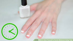 how to give yourself a french manicure using tape 10 steps