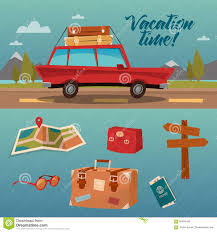 family vacation time holidays by car stock vector image 65606446