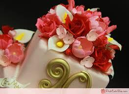 birthday flower cake 90th birthday floral cake birthday cakes