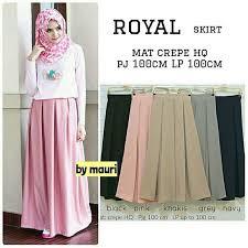 rok panjang muslim jual royal skirt rok panjang muslim maxi bahan crepe