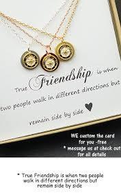 hochzeitsgeschenk f r beste freundin beste freund geschenk gold compass collier besten freund