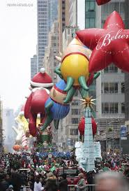 90th macy s thanksgiving day parade celebrated in manhattan new