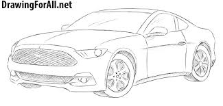 photo collection ford mustang gt drawing