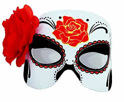 day of the dead masks day of the dead half mask clothing
