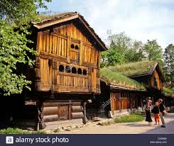 8278 traditional farm houses bygdoy folk museum oslo norway
