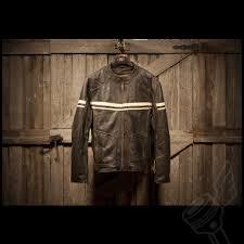 retro motorcycle jacket river road hoodlum vintage leather jacket mens black leather