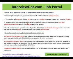 what is spring what is spring application context explain spring interview question