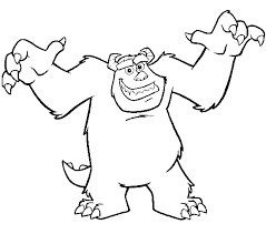 coloring page monsters inc monsters inc coloring page sulley scaring all kids network