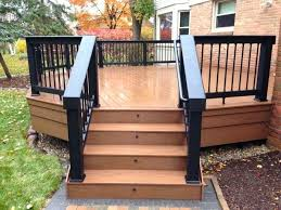 stair railings deck porch the home depot vinyl railing kits white