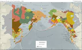 Map Of Pacific Indigenous Peoples Of The North Pacific In Asia C 1880