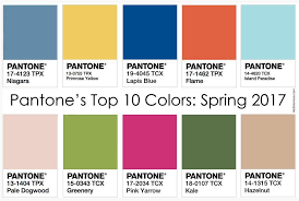 100 pantone spring fashion 2017 spring summer 2017 color