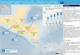 mexico america map humanitarian update central america mexico echo daily map