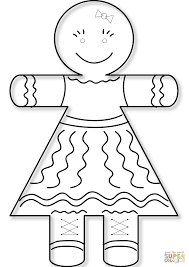 gingerbread coloring page free printable coloring pages