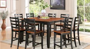 black dining room table set interior design
