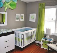 Gray Walls Curtains Bedroom Home Designs Upscale Modern Baby Boy Nursery Ideas Along