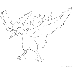 146 moltres pokemon coloring pages printable