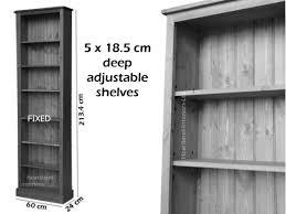 solid pine or oak 7ft 2ft adjustable bookcase