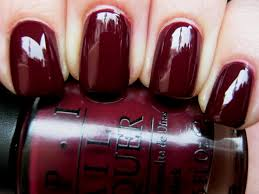 opi mrs o u0027leary u0027s bbq for burgundy nails the color of bbq sauce