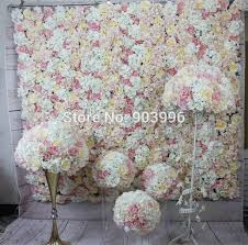 wedding backdrop aliexpress pink series artificial wedding flower wall backdrop road lead
