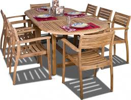 Teak Outdoor Table Amazonia Teak Coventry 9 Piece Oval Teak Outdoor Dining Set With