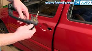 how to install replace outside door handle volkwagen vw jetta golf
