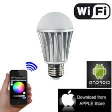 light bulbs controlled by iphone lifx wi fi enabled iphone controlled led light bulb view lifx wi fi