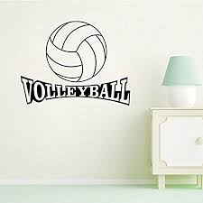 Wi & Artists in Bed Art Deco Sport Volleyball Wallpaper Bedroom Wall