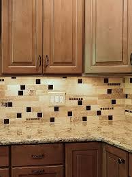 BROWN GLASS TRAVERTINE Mix Backsplash Tile For Traditional Kitchen - Backsplash travertine tile