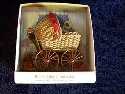 1981 baby s carriage mib hallmark ornament at
