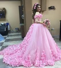 beautiful dress beautiful pink flower wedding dresses gowns shoulder