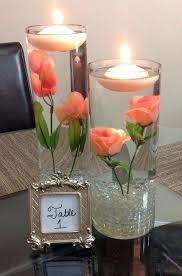 table decorations with candles and flowers winning table centerpieces with candles wedding decorating ideas