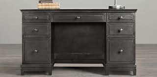 Restoration Hardware Office Desk Annecy Metal Wrapped Collection Zinc Rh