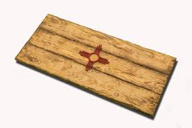 new mexico state flag handmade distressed wooden vintage art
