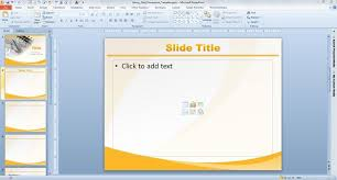glossy gold powerpoint template