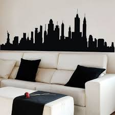 online get cheap nyc wall aliexpress com alibaba group wall decal new york city nyc skyline cityscape travel vacation destination 3d wall sticker art wall graphic mural 21