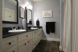 Benjamin Moore Gray Bathroom - gray and blue bathroom decorating clear