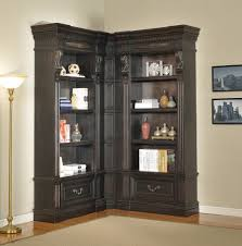 furniture white l shaped corner wall bookcase with multipurpose