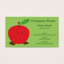 apple business card apple fruit business cards templates zazzle