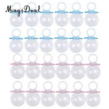 pacifier shaped candy magideal 12 pcs lot fillable pacifier shape baby shower candy
