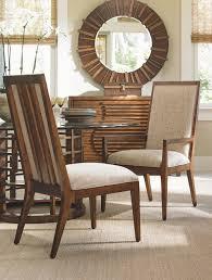 island fusion natori slat back side chair tommy bahama home