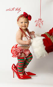 Design My Own Christmas Cards Santa Baby Session With Elynn Portraits By Ap Portrait Design