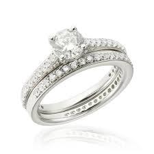 inele logodna aur alb grup de doua inele logodna argint white cu cristale trsr126 corelle