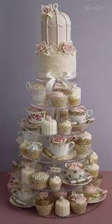 Wedding Cake Display Vintage Tea Cups Wedding Cake Display Www Weddbook Com